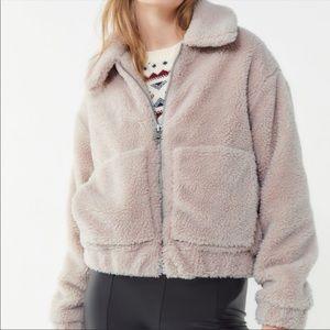 Cropped Teddy Coat